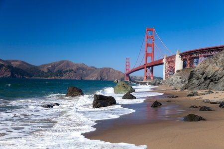 The Golden Gate Bridge in San Francisco bay photo