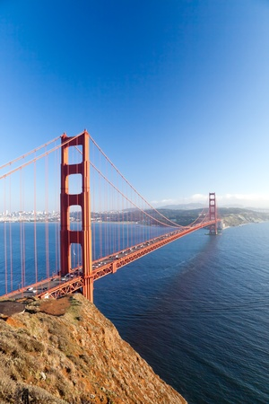 The Golden Gate Bridge in San Francisco bay Stock Photo - 11393903
