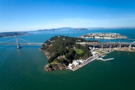 San Francisco Bay bridge and the Treasury Island