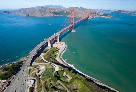 The Golden Gate Bridge in San Francisco bay Standard-Bild