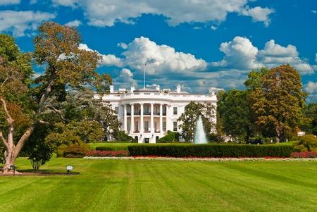 南ゲートのワシントン dc のホワイトハウス 報道画像