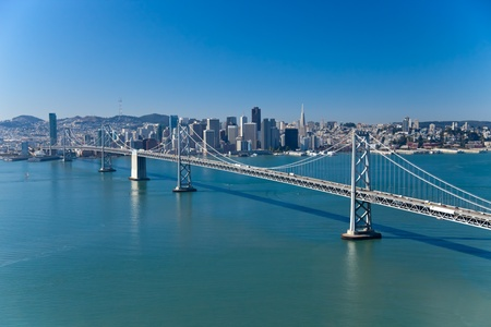 San Francisco Panorama with Bay bridge Stock Photo - 11394142