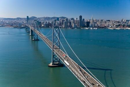 San Francisco Panorama with Bay bridge photo