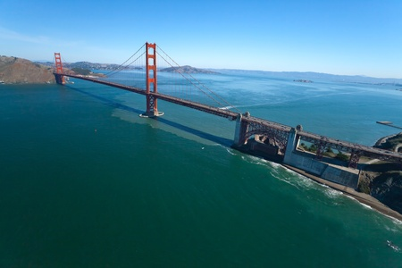 The Golden Gate Bridge in San Francisco bay Stock Photo - 11394138