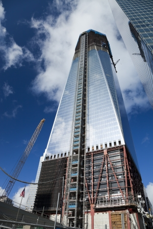 NEW YORK CITY - OCTOBER 3: One World Trade Center (formerly known as the Freedom Tower) is shown under construction on October 3, 2011 in New York, New York. Stock Photo - 11414391
