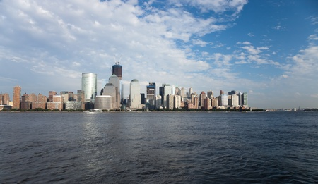 The New York City skyline at afternoon w the Freedom tower Stock Photo - 11638204