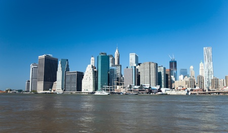 The New York City skyline at afternoon w the Freedom tower Stock Photo - 11638205