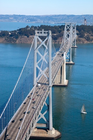 San Francisco Bay bridge and Treasure Island photo