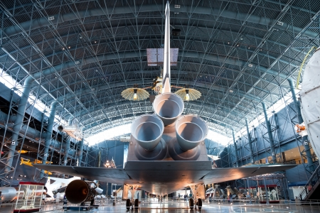 CHANTILLY, VIRGINIA - OCTOBER 10: Space Shuttle Enterprise at the National Air and Space Museum on October 10, 2011. The Enterprise was the first Space Shuttle orbiter. On September 17, 1976 the first full scale prototype was completed. Redakční