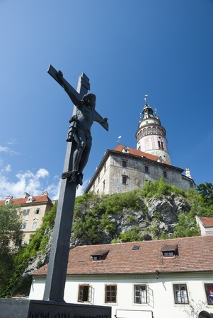 Cesky Krumlov the castle in the summer