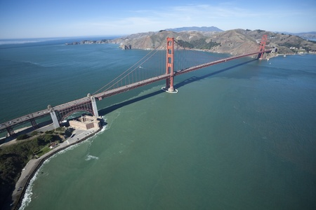 The Golden Gate Bridge and Fort Point