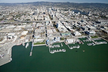 The Oakland City and the Downtown Stock Photo