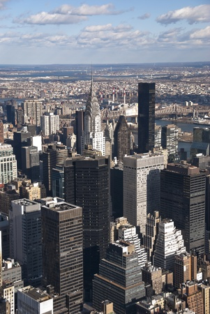 The New York City Manhattan panorama with Queens Stock Photo - 12772517