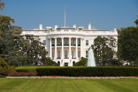 presidency: The White House in Washington D C , the South Gate