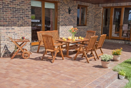garden furniture: The Garden furniture by the house