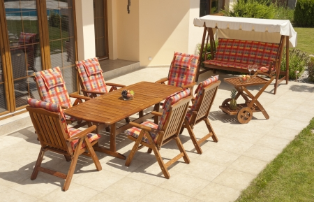 The Garden furniture by the house