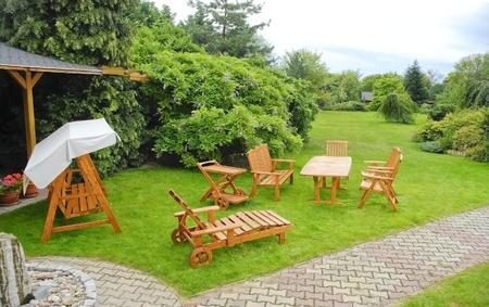 The Garden furniture Standard-Bild