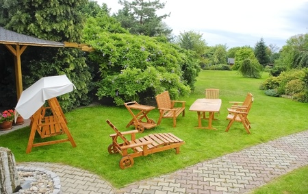 garden furniture: The Garden furniture Stock Photo