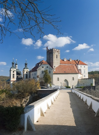 hill of the king: Vranov nad Dyji the old czech castle Editorial