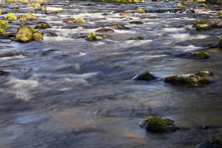 boulder: The river running fast over boulders