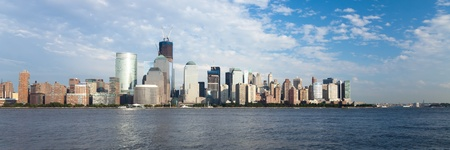 The New York City skyline at afternoon w the Freedom tower Stock Photo - 13493466