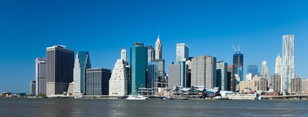The New York City skyline at afternoon w the Freedom tower photo