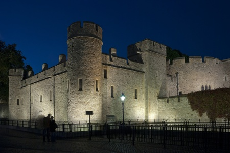 The medieval prison the Tower in London photo