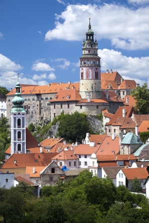 Cesky Krumlov the castle in the summer photo