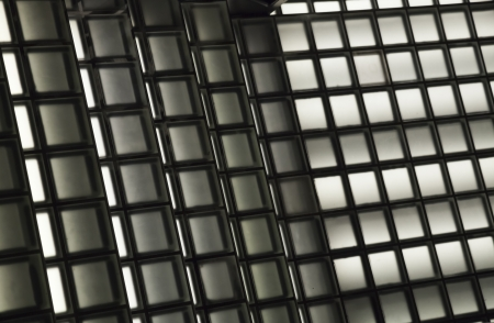 backlite: Texture of black and white squares with backlite Stock Photo