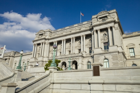 cataloged: WASHINGTON D.C, USA-OCTOBER 5, 2012: Library of Congress is the oldest federal cultural institution. The collections of the Library of Congress include more than 32 million cataloged books and print materials, including the rough draft of the Declaration