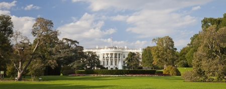 Washington D.C., USA - October 4, 2012 : The White House in Washington D.C.on October 4, 2012, the South Gate