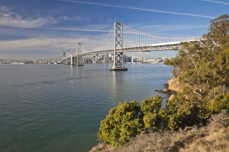 San Francisco Panorama with Bay bridge photo