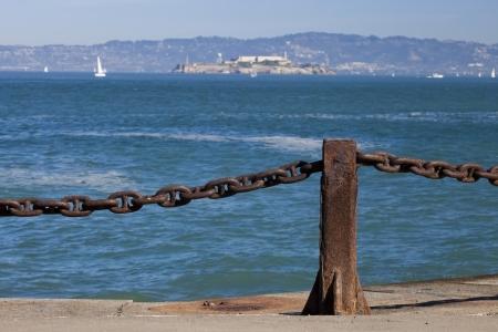 Alcatraz jail in San Francisco bay Stock Photo - 17108486