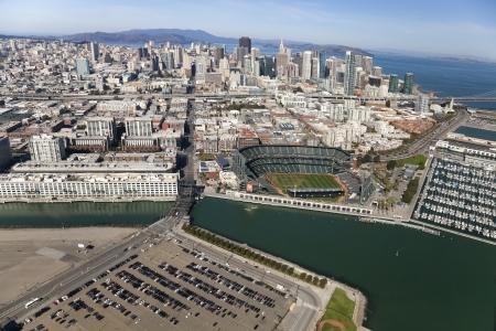 SAN FRANCISCO, CA, USA-OCTOBER 26:San Francisco Giants Stadium on October 26, 2011 at AT&T Park San Francisco California. The Baseball team is Worldseries Champion for 2012 Stock Photo - 17146365