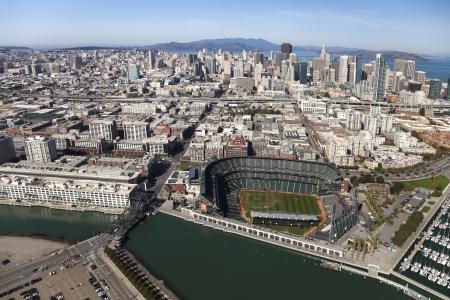 yardline: SAN FRANCISCO, CA, USA-OCTOBER 26:San Francisco Giants Stadium on October 26, 2011 at AT&T Park San Francisco California. The Baseball team is Worldseries Champion for 2012