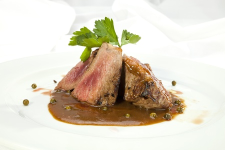 mignon: Grilled Sirloin with pepper sauce