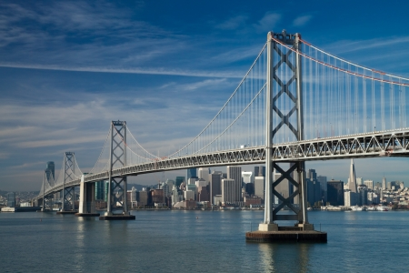 San Francisco Bay bridge in the morning photo