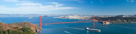San Francisco With Golden Gate bridge and Alcatraz