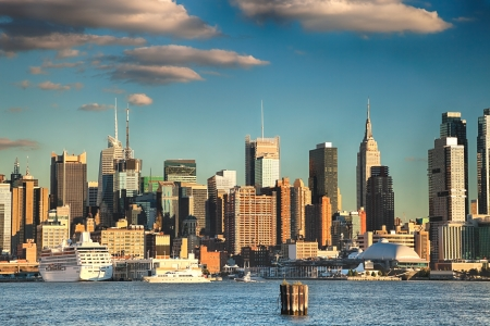New York City Uptown skyline at the afternoon photo