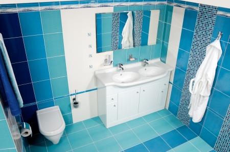 The luxury bathroom with the towel photo