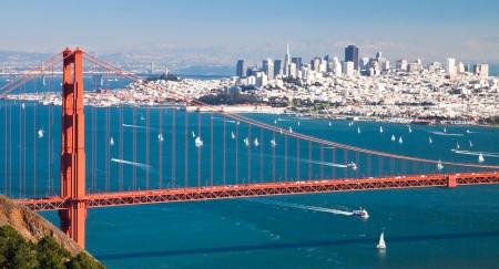 San Francisco 湾から San Francisco パノラマ 写真素材
