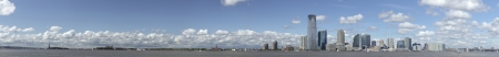 New Jersey panorama, Statue of Liberty and river Hudson photo
