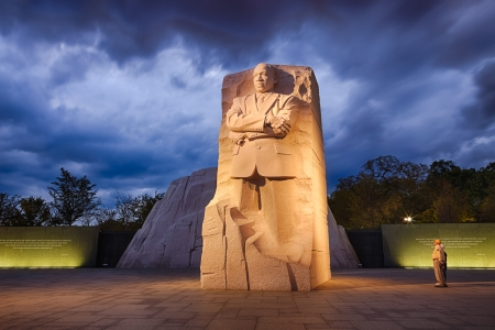 WASHINGTON, DC - OCTOBER 10: Memorial to Dr. Martin Luther King on October 10, 2012. The memorial is America's 395th national park.