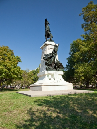 revere: Statue of Rochambeau in Lafayette Park, Washington D C  Stock Photo