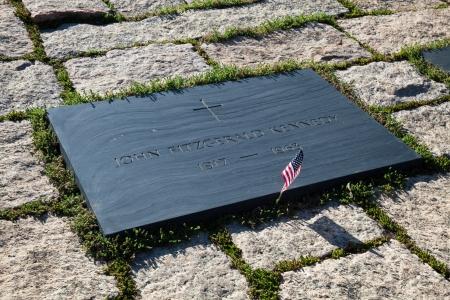 jfk: John F Kennedy Gravestone at Washington Memorial, Arlington Cemetery