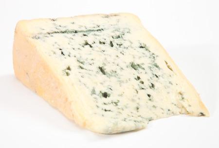 Wedge van de volvette zachte blauwe kaas