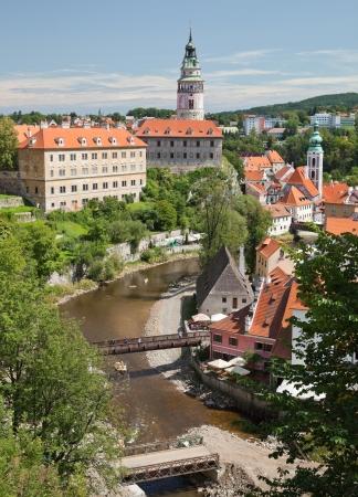 CESKY KRUMLOV, Czech Republic - AUGUST 21, 2012  The Castle and City  The castle and city of Cesky Krumlov is saved by UNESCO since 1992
