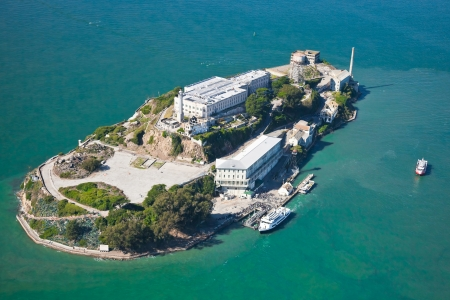 Alcatraz jail in San Francisco bay photo