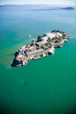 california coast: Alcatraz jail in San Francisco bay Stock Photo