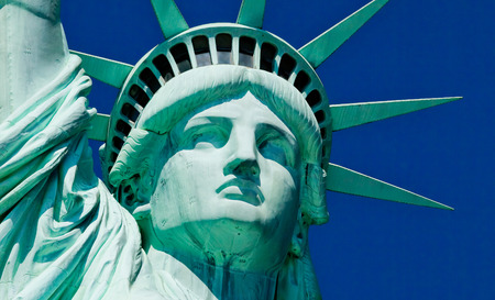 The Detail of Statue of Liberty at New York City Standard-Bild